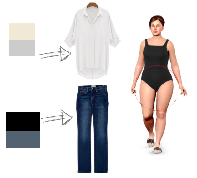 dress style to make you look slimmer