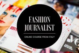 Fashion journalist online course