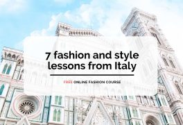 Free online fashion course – 7 fashion and style lessons from Italy