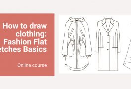 Online course How to draw clothing: Fashion Flat Sketches Basics